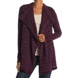 Susina | Burgundy Fig Chenille Soft Knit Cardigan